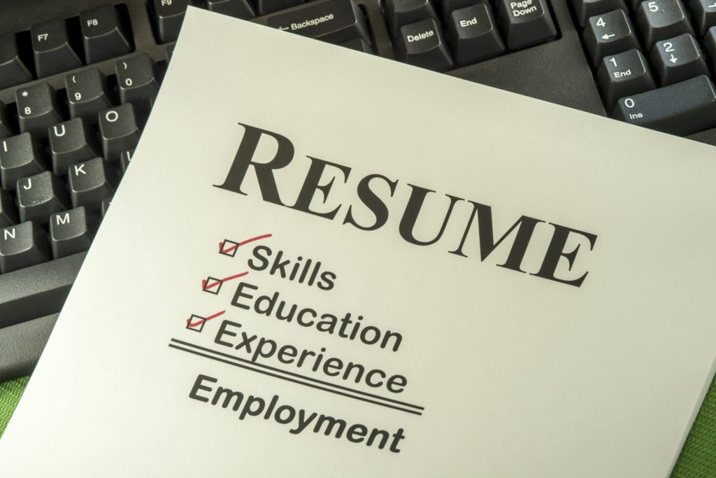 resume writing for estheticians